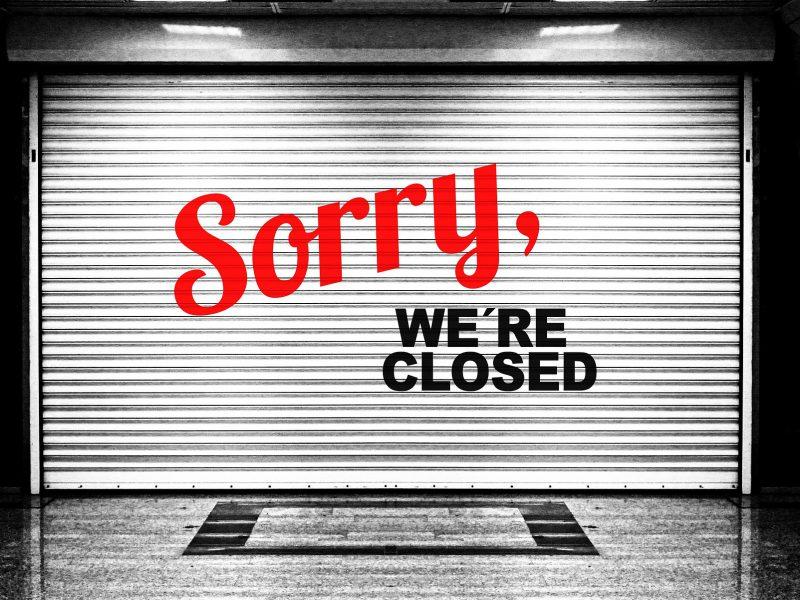 prepáčte, máme zatvorené